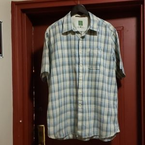 Timberland Blue Plaid Short Sleeve Shirt Size L/G